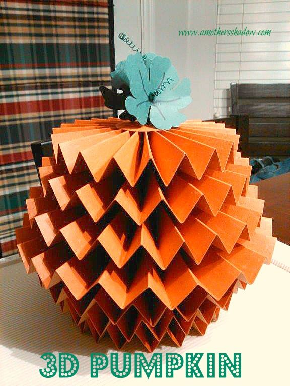 how to make 3d paper pumpkins