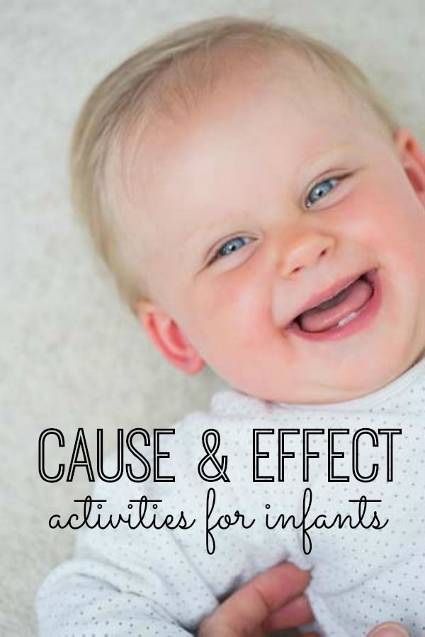You will love these 15 cause and effect activities for infants! These activities will help break up your day with your little one. My son loves #14! #baby #mom #activities
