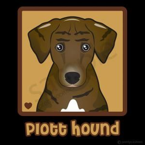 Plott Hound Cartoon Heart T-Shirt