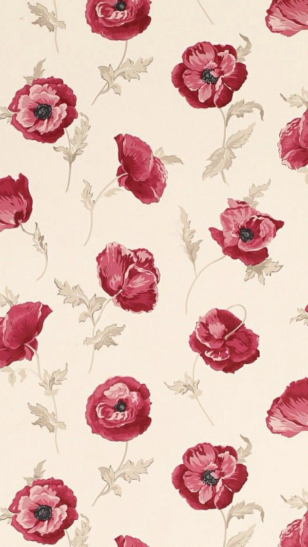 poppy poppies background pattern print