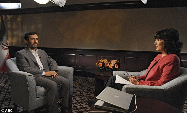 Grilled: Christiane Amanpour gains an exclusive interview with President of Iran Mahmoud Ahmadinejad in September