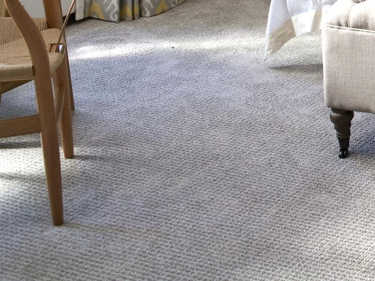 Wall-to-wall Stainmaster TruSoft nylon carpet from Lowe's in a subtle gray, similar to the wall color, makes the room feel soft and cozy. Its durable nylon fibers won't look shabby over time.