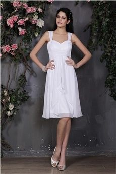 A-Line/Princess Sweetheart Straps Knee-length Chiffon #homecoming #dresses
