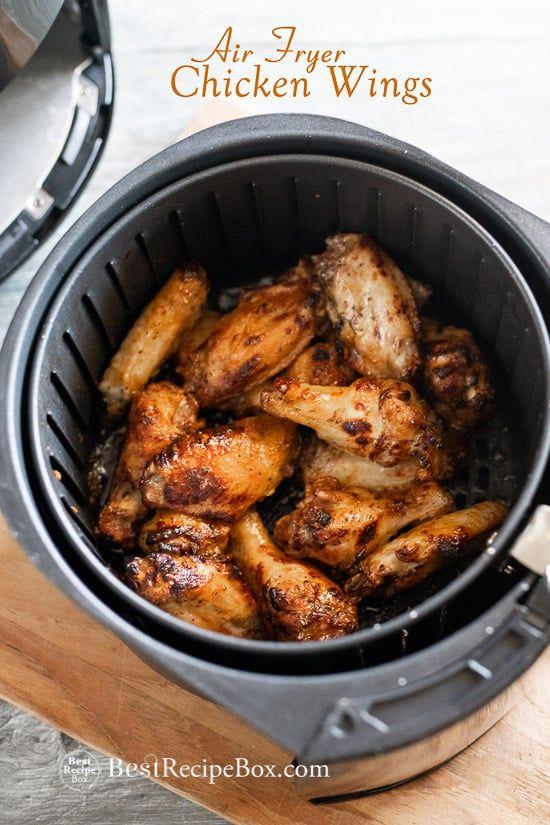 Bestes Hühnerflügelrezept in der Luftfritteuse. Unsere Luft gebratene Hähnchenflügel Rezept u …   – Food