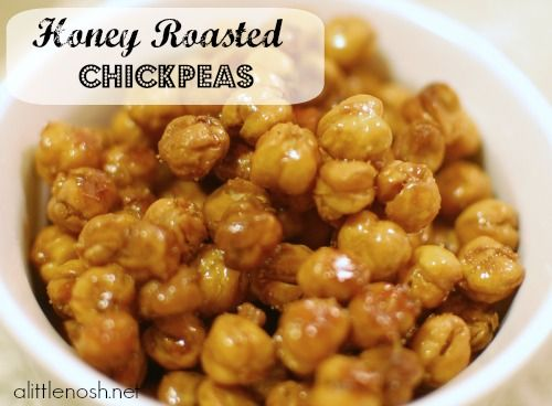 Honey Roasted Chickpeas - You'll never believe these are made with chickpeas!  It's a delicious healthy snack for when you need a little sweet crunch. Great for Weight Watchers members!
