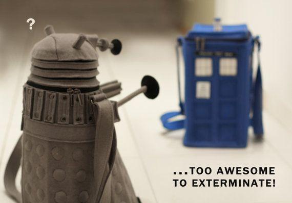 HANDMADE DOCTOR WHO PURSES: Felt Doctors, Felt Dalek, Dalek Purses, Handmade Doctors, Felt Tardis, Dalek Bags, Doctors Who, Dr. Who, Tardis Bags