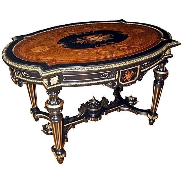 Details About Antique Renaissance Revival Inlaid Table By Pottier Stymus 7277 Antiques