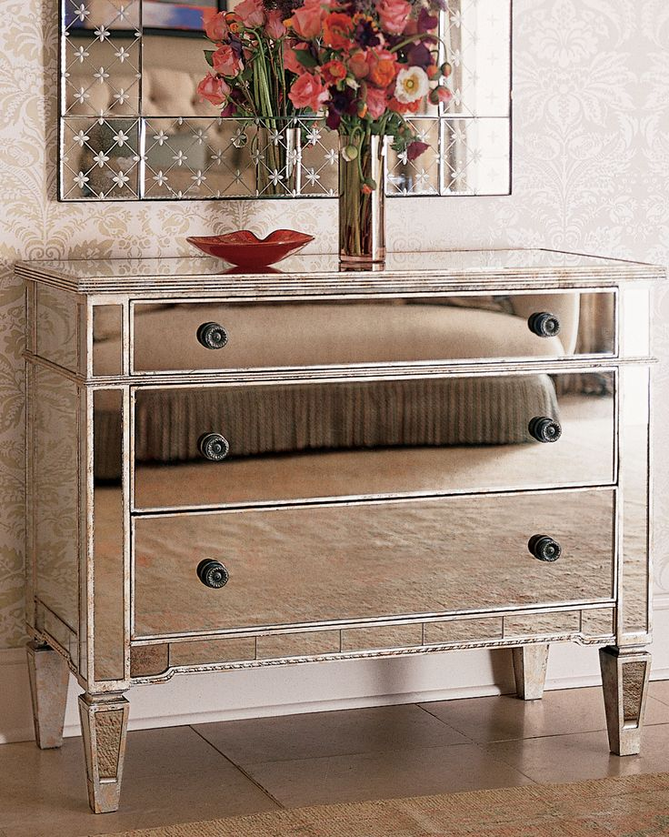 amelie mirrored hall chest - Cheap Mirrored Furniture