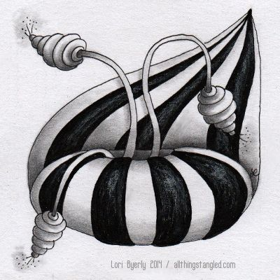 Tangle: striping & pepper (tangleation)