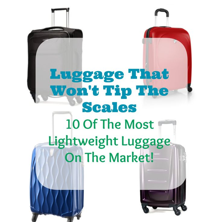 Traveling lightly has become more and more of a necessity thanks to luggage fees and minimal weight restrictions with checked and carry-on luggage, which is why lightweight luggage is a must!
