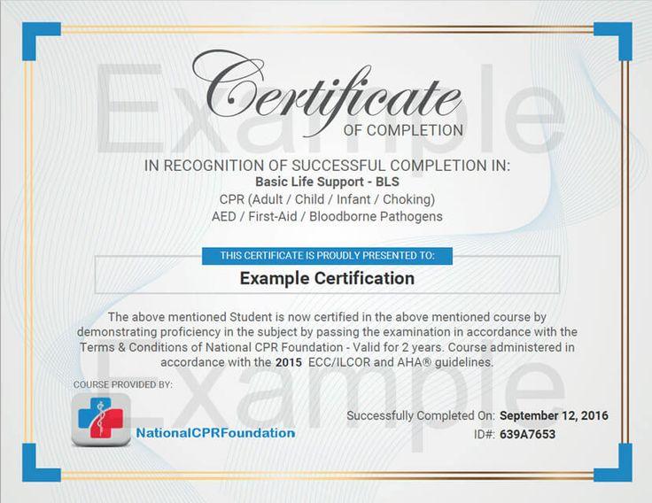 bloodborne pathogens training certificate template