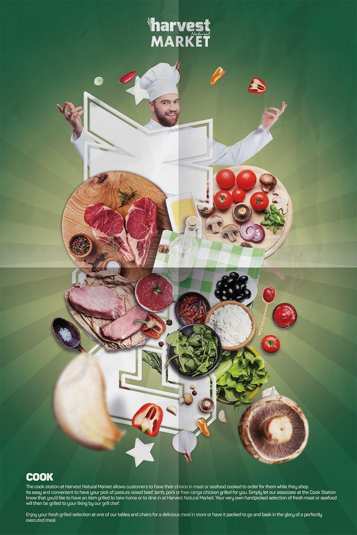 Harvest Natural Market Afiş Tasarım - Yemek Departmanı