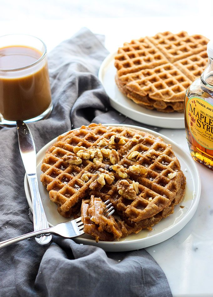 Make your Saturday morning breakfast extra special with a batch of these tasty vegan carrot cake waffles.