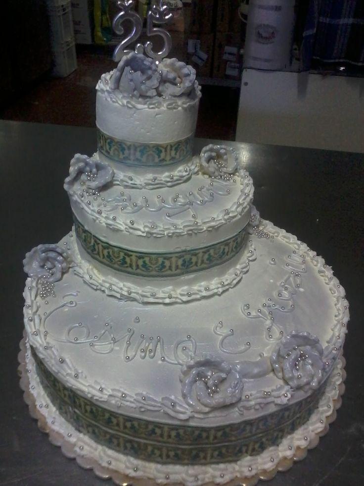 17 best images about le nostre torte on pinterest for Anniversario di 25 anni di matrimonio