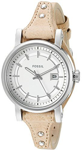 Fossil Womens ES3908 Small Original Boyfriend Watch With Tapered Leather Band -- You can get additional details at the image link.