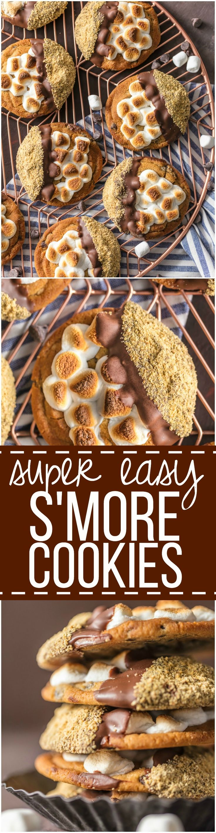 These Easy Smore Cookies are a favorite at our house for Christmas. It can be our little secret that they're made with premade refrigerated chocolate chip cookie dough, dipped in milk chocolate, then graham cracker crumbs. DIVINE!