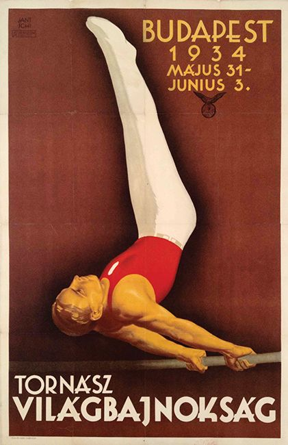 Gymnastic World Championship (Jantschi Béla, 1934) - http://budapestposter.com/upload/angol_tanulm_kat_2014.pdf