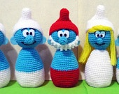 Crochet Snow White & Seven Dwarfs Egg Warmer Amigurumi- Finish Doll - clothes for your boiled eggs