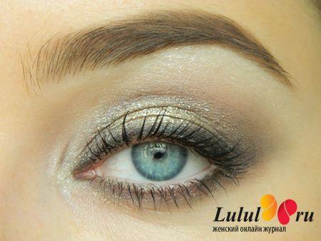 лёгкий макияж глаз на основе кремовых теней фото