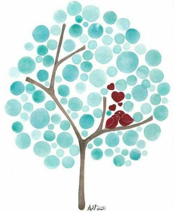 Art project...make circles with stamps. Stamps can be made from erasers, foam, potatoes, whatever. Paint tree trunk and branches. Make a good family tree project. For Tim