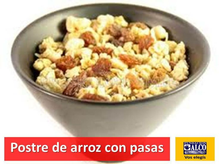 Postre de arroz con pasas https://www.facebook.com/129711433743670/photos/a.133620213352792.24589.129711433743670/635122713202537/?type=1&relevant_count=1