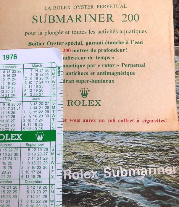 Rolex Rolex Submariner Booklet Calendar And Submariner