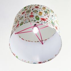 How to make this lampshade? With cardboard, wood sticks, plastic bottle...and tutorial!