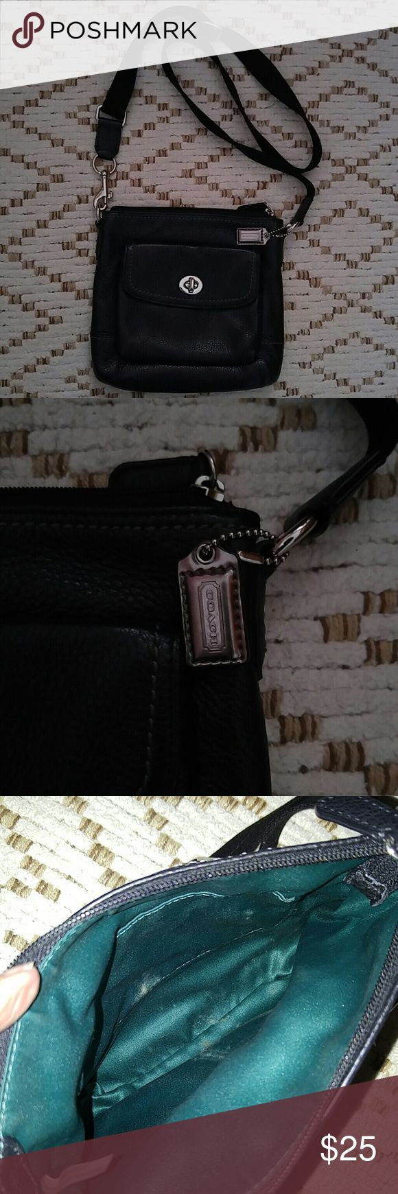 Coach small crossbody Very nice leather.used about 7 times until I got a bigger phone..really loved this bag.bought at coach outlet store. Coach Bags Crossbody Bags