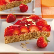 Haferflocken-Erdbeer-Kuchen