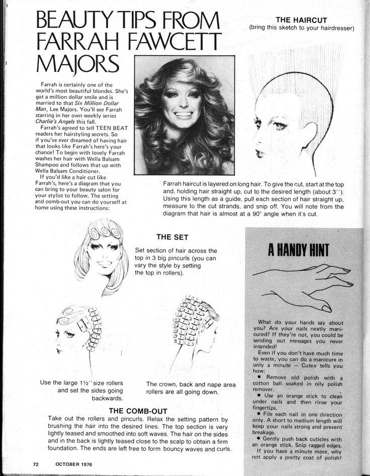 farrah fawcett haircut diagram undercut haircut diagram how to get a farrah fawcett haircut! | everything vintage ...
