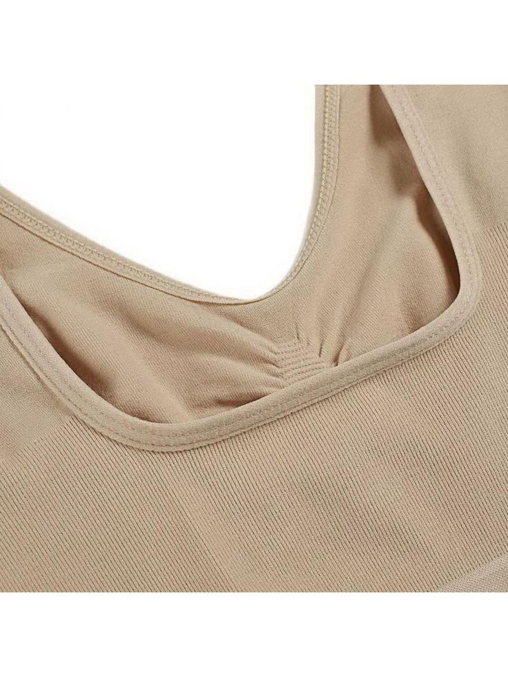Fashion Women Ladies VNeck Stretch Wire Free Pure Color