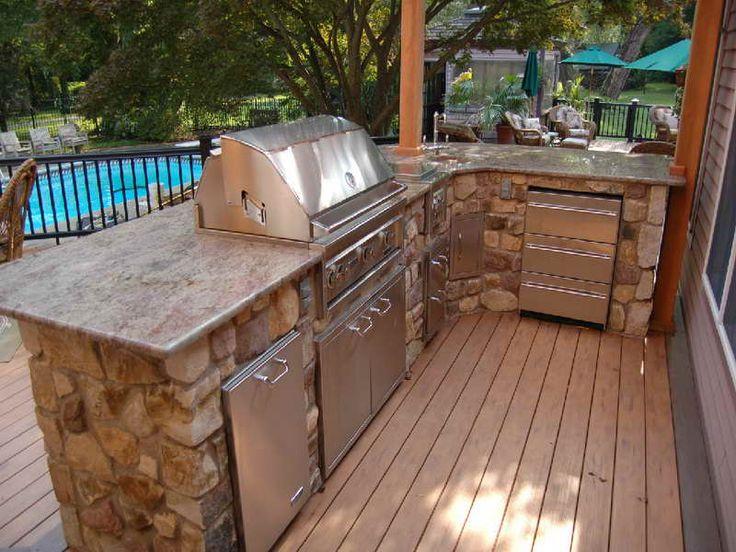 Modular bbq outdoor kitchen outstanding modular outdoor for Outdoor kitchen islands for sale