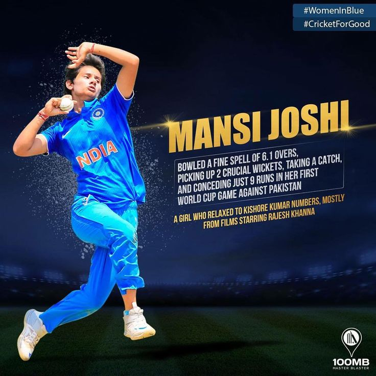 MEET #MansiJoshi: Mansi and I have one thing in common … we both love Kishore Kumar songs. This young athlete, like all women at