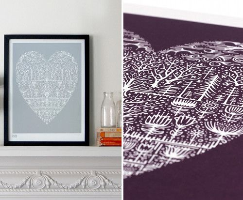 Delicate: Design Inspiration, Print Ideas, Noble Print, Heart Print, Design Sponge, Intricate Prints, Designsponge
