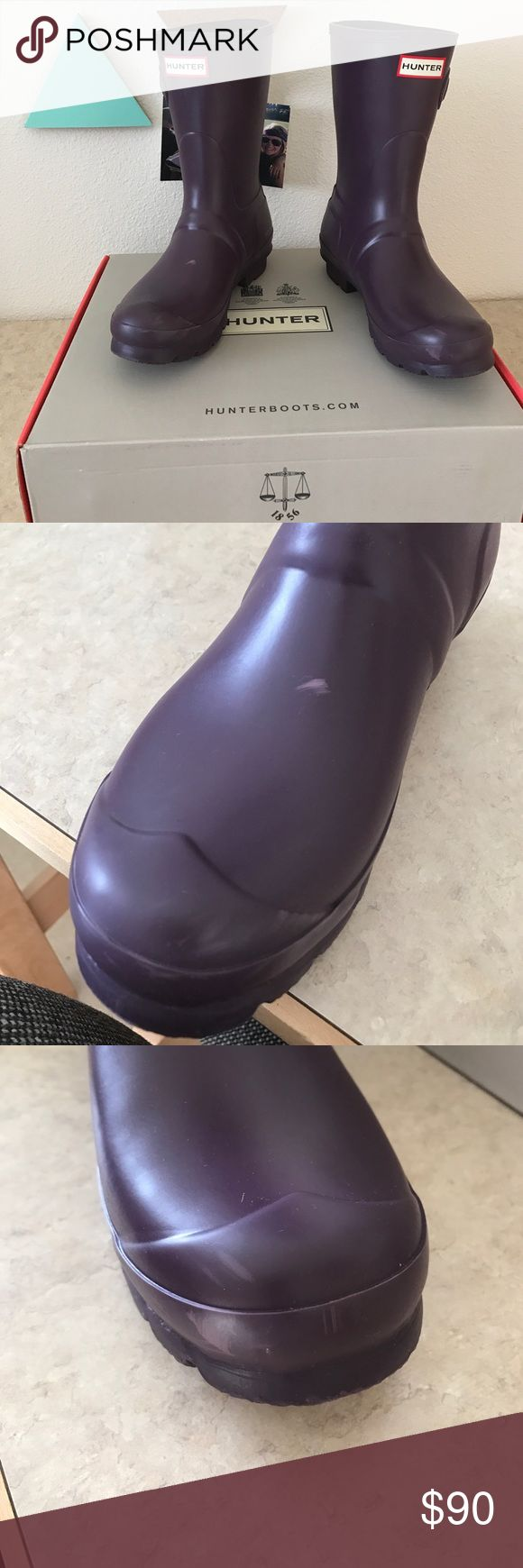 "SHORT HUNTER SALE matte ""purple urchin"", perfect condition- NEED TO CLEAN OUT MY CLOSET!!! ACCEPTING OFFERS!!! Hunter Boots Shoes Winter & Rain Boots"