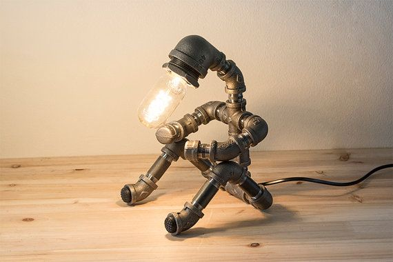 pipestory lampe tube lampe tube de fer industriel. Black Bedroom Furniture Sets. Home Design Ideas