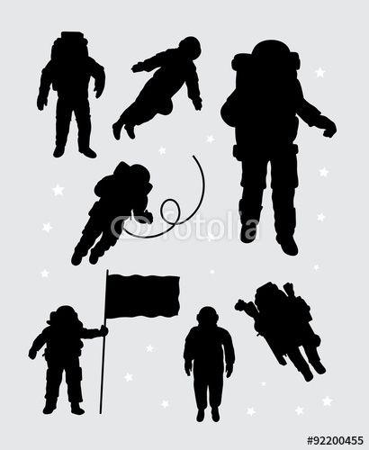 astronaut silhouette vector - photo #4