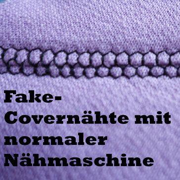 Fake-Covernähte mit normaler Nähmaschine - SewingRoom