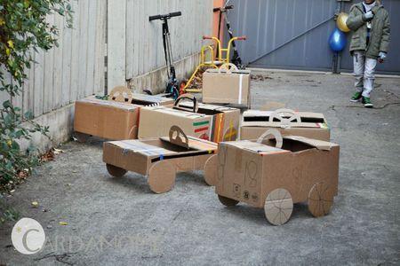 Cardboard cars...