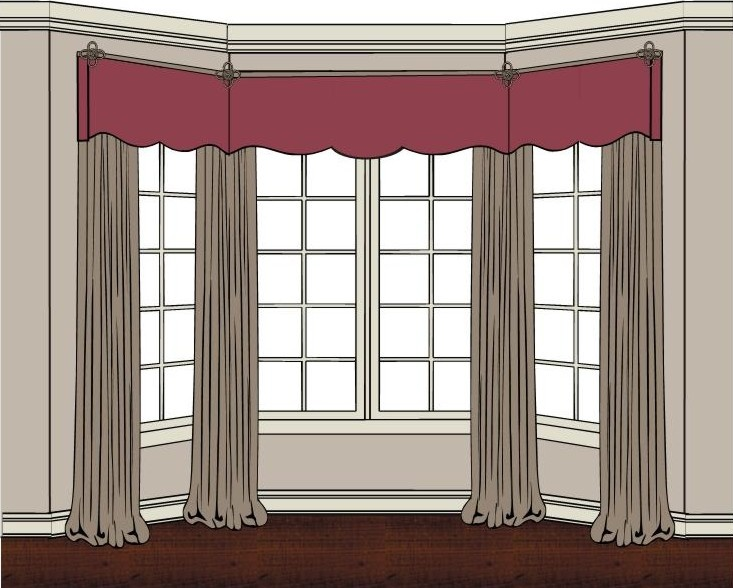 66 best images about bay windows on pinterest bay for Window seat curtains