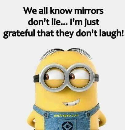Funny Minion Joke About Mirrors vs. Me