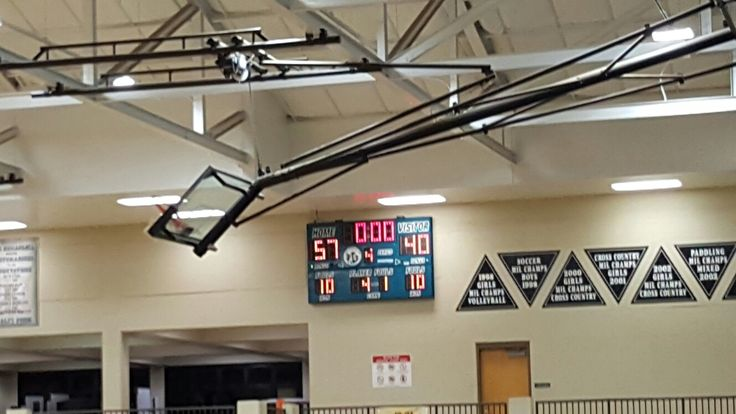 High school girls basketball score board King Kekaulike vs Maui HS