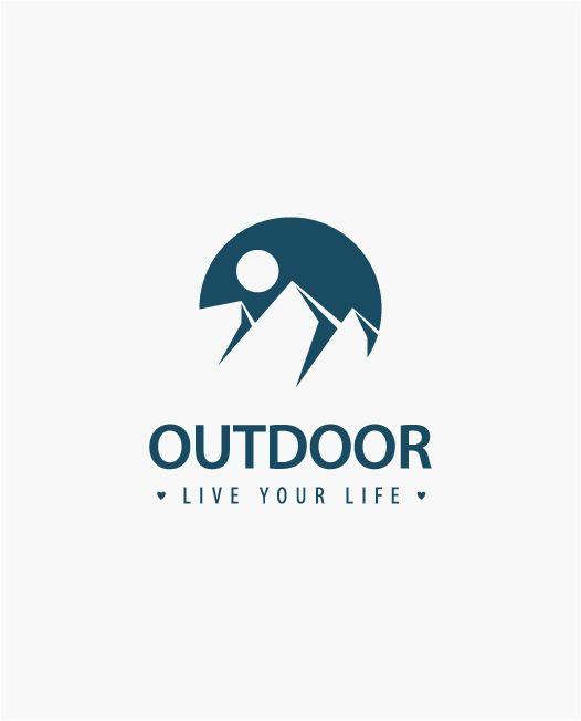 Logo Outdoor, Hotel, Bergsteigen, Gastronomie - LogoAtelier.eu