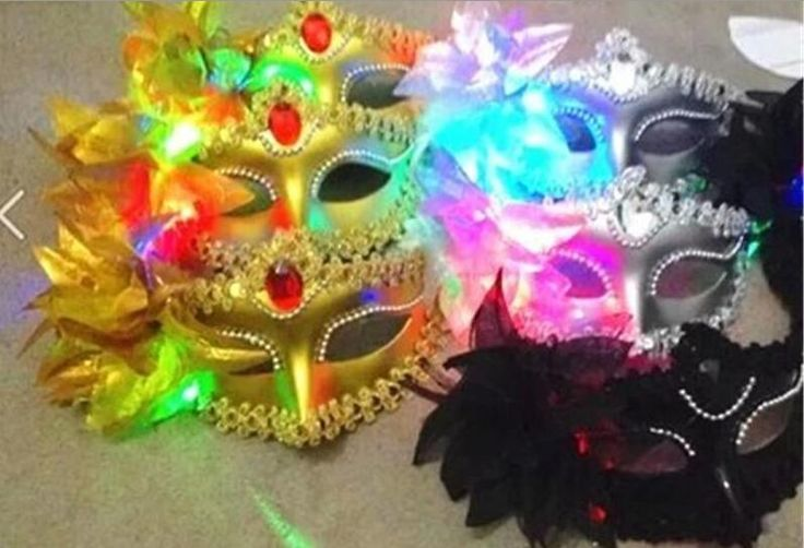 Italy New Style Led Venice Shiny Masks Flashing Princess Mask Dance Mask Side Plating Mask Pointed Flower Luminous Masks Masquerade Masks Cheap Masquerade Masks Cheap Masquerade Masks For Couples From Crownbonanza, $63.32| Dhgate.Com