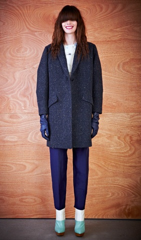 the donegal tweed coat by karen walker. the name alone makes me want to pull out the credit card!!