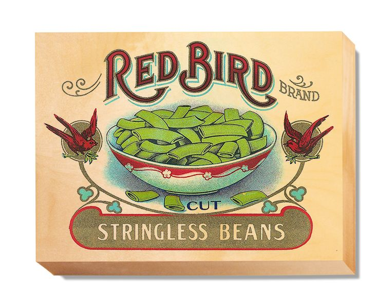 LAB 013 Crate Label Red Bird