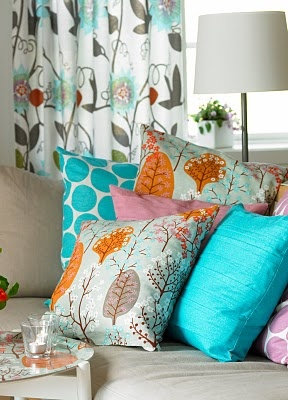 Love The Mix Of Turquoise And Orange Old Vintage Fabrics
