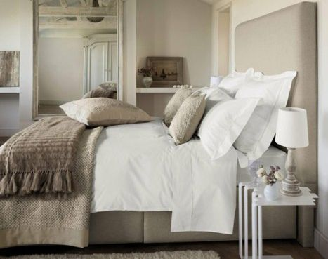 Neutral tones will promote a good nights sleep for your guests