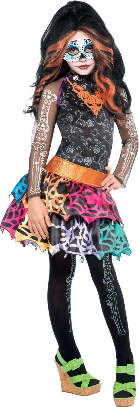girls skelita calaveras costume deluxe monster high party city - Skelita Calaveras Halloween Costume