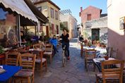 Cycling in the upper part of the beautiful neighborhood Plaka
